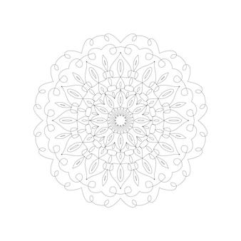 Круглый узор мандалы дизайн вектор