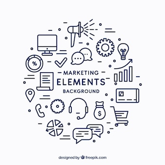 Circular marketing elements background
