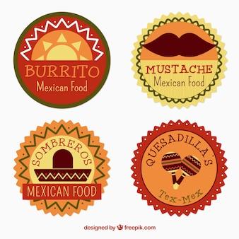 Circular mexican badges