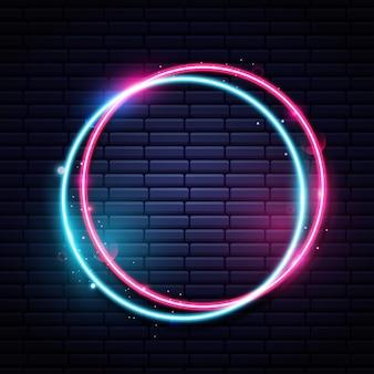 Круговой неоновый светлый фон