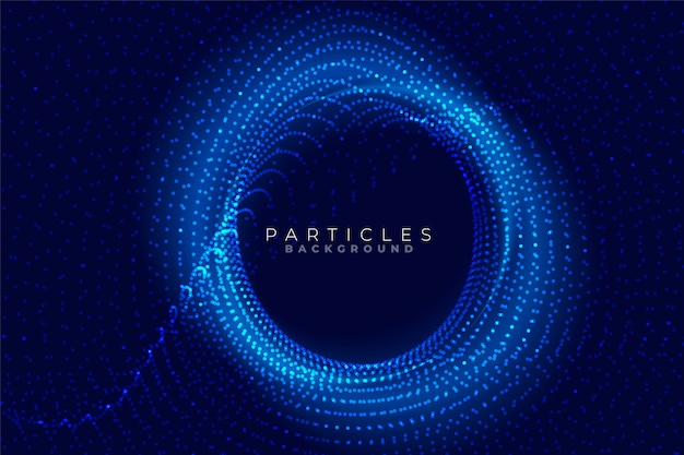 Circular particles technology background with text space