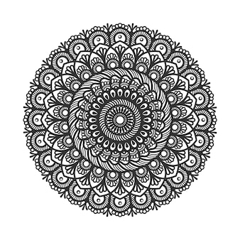 Circular pattern in form of mandala for decoration