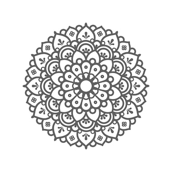 Circular pattern in form of mandala  . decorative ornament in ethnic oriental style