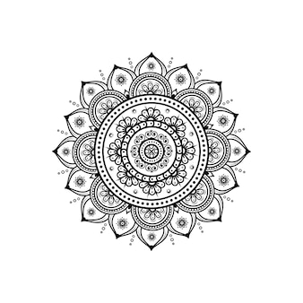 Circular pattern in form of mandala for henna & tattoo decoration