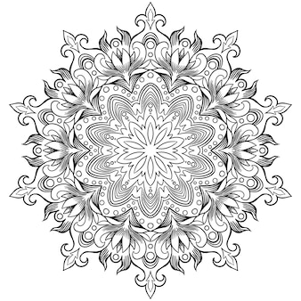 Circular pattern in form of mandala for henna