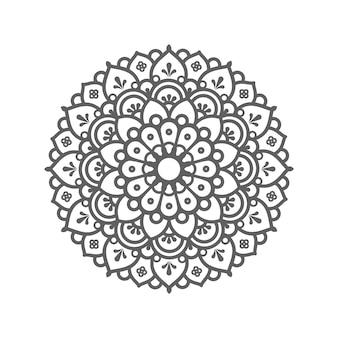 Круговой узор в виде мандалы. декоративный орнамент в этническом восточном стиле