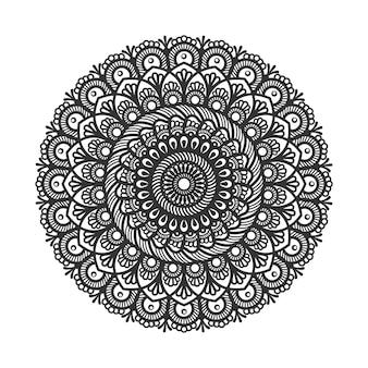 Круговой узор в виде мандалы для украшения