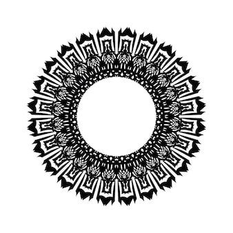 Круговой узор в виде мандалы для хны, менди, тату, украшения. декоративный орнамент в этническом восточном стиле. книжка-раскраска.