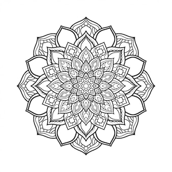 Circular pattern of mandala