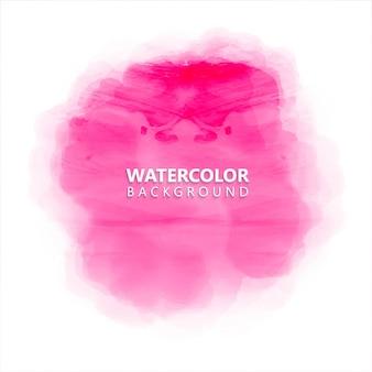 Circular pink watercolor background