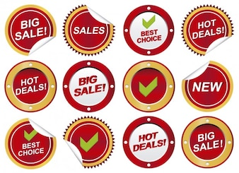 Circular sale stickers