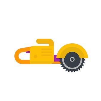 Circular saw, flat style, vector illustration