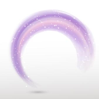 Circular shape of purple watercolor
