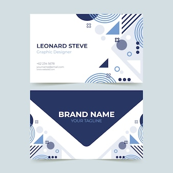 Circular shapes and dots business card template