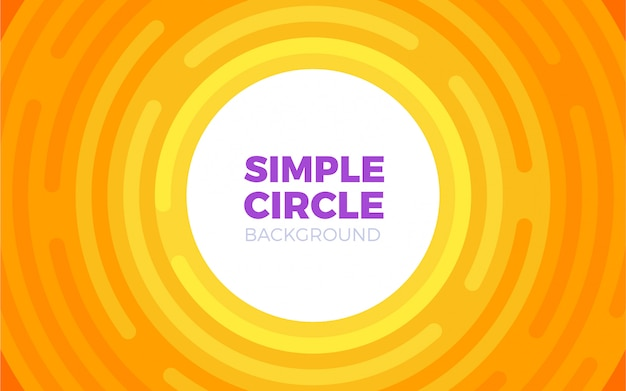 Circular style background cycle in orange color