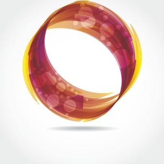 Circular swirl shape on white background