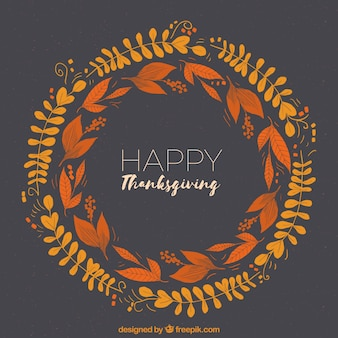 Circular thanksgiving design