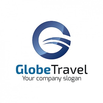 Circular travel agency logo