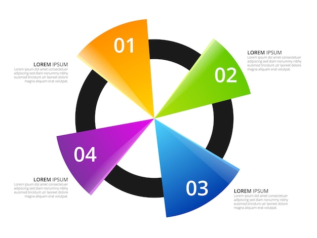 Circular triangle chart information infographic element