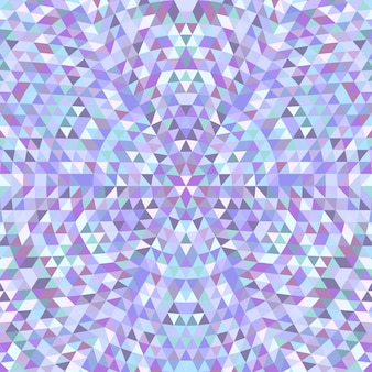 Circular triangle kaleidoscope mandala background - symmetrical vector pattern graphic from colored triangles