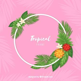 Круглая рамка тропического отпуска