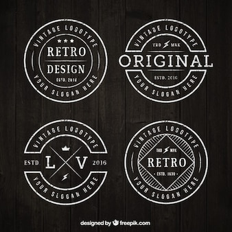 Circular vintage logotype collection