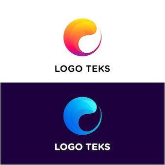 Circular water waves set logo
