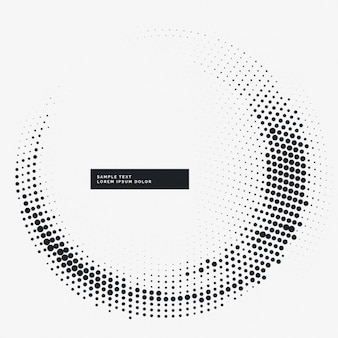 Circular white background with dots