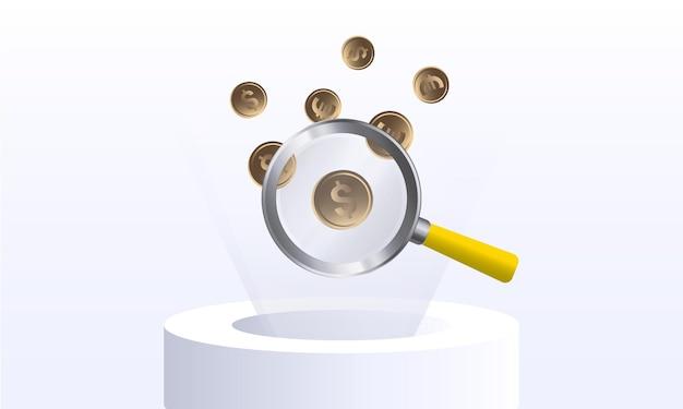 배너 및 웹사이트에 대한 온라인 뱅킹의 돈 디자인 개념 방문 페이지 템플릿의 순환