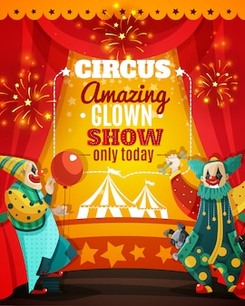Circo amazing clown show announcement poster