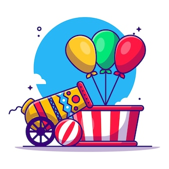Цирк и фестиваль элемент иллюстрации шаржа