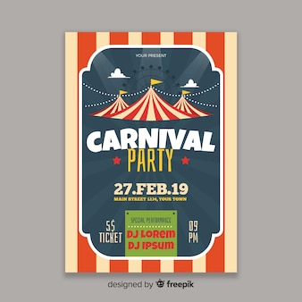 Circus carnival party poster