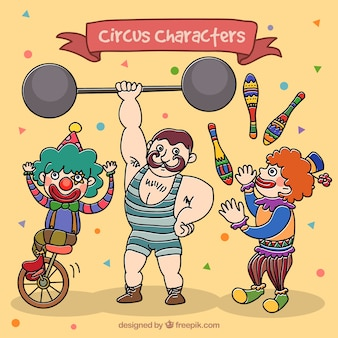 Circus characters pack