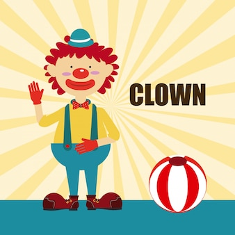 Circus design over yellow background vector illustration