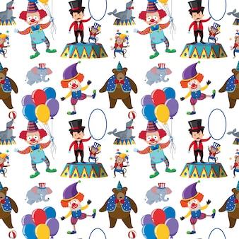 Circus element seamless pattern