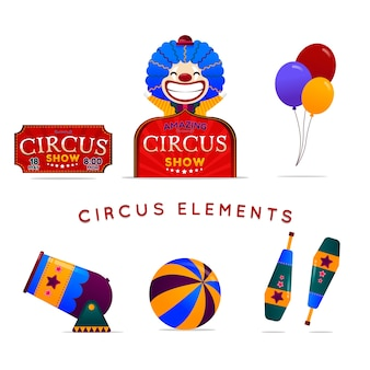 Circus elements in gradient style