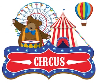 Концепция цирковой ярмарки