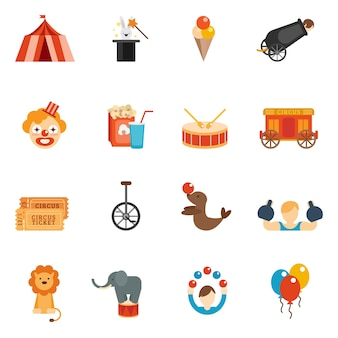 Circus icon flat