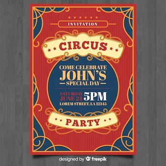 Circus invitation card