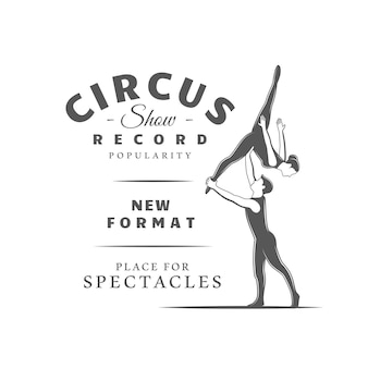 Circus label isolated on white background