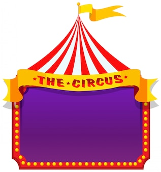 A circus on note banner