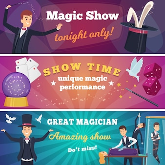 Circus party s. magic show with wizard characters circus tricks  cartoons background