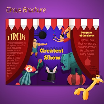 Circus performance brochure