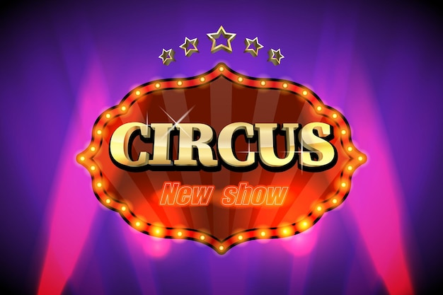 Circus poster or banner.