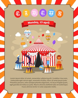 Иллюстрация циркового плаката