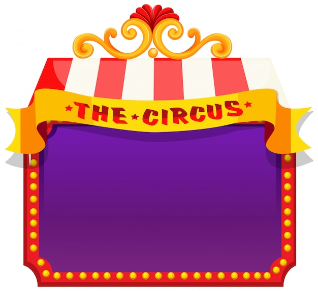 The circus purple blank template