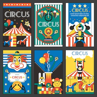 Цирковые ретро-плакаты