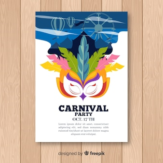 Circus shadow carnival party poster