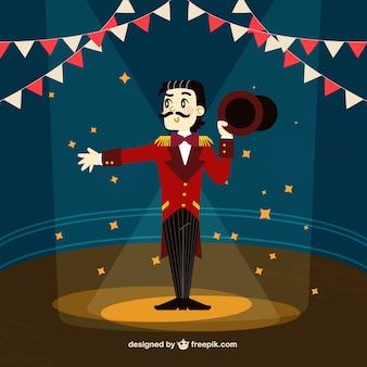 Цирк шоумен иллюстрация