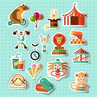 Circus stickers set